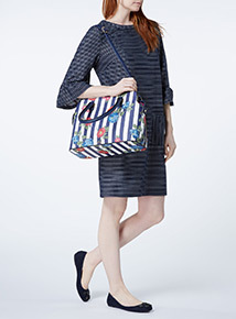 Navy Nautical Stripe Bag