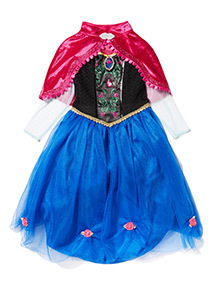 Kids Blue Disney Frozen Anna with Sound Costume (2-12 years)
