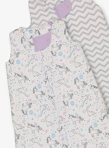 2fe96d0834c9 Online Exclusive Multicoloured Patterned Sleep Bags 1.5 Tog 2 Pack (0-3  Years)