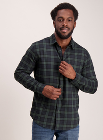 Navy & Green Check Regular Fit Shirt