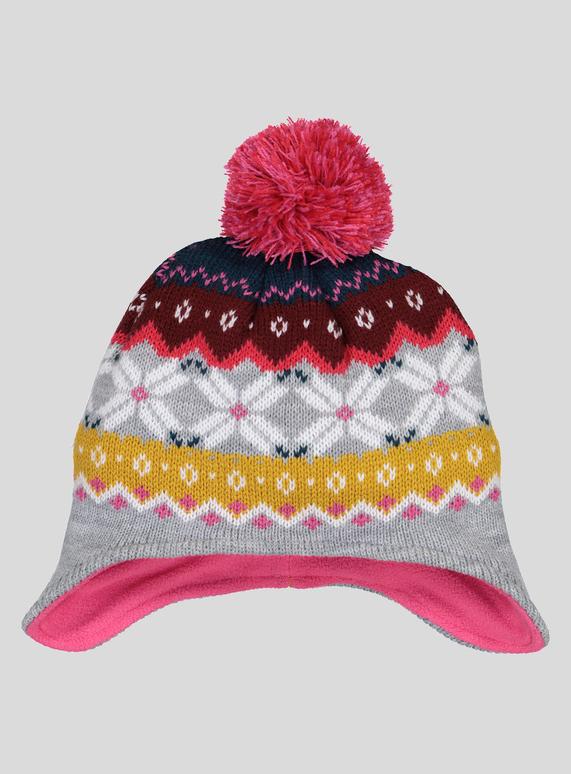bf181c3bfe8 Kids Multicoloured Fairisle Pom-Pom Trapper Hat (1 - 13 years)