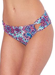 Paisley Cut Out Bikini Briefs