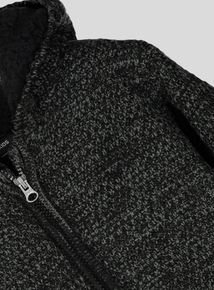 Charcoal Grey Zip Through Knitted Hoody (3-14 years)