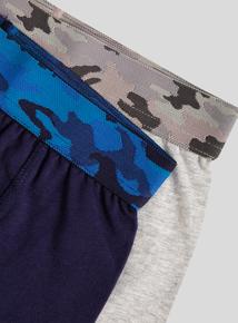 Multicoloured Camo Waistband Trunks 5 Pack