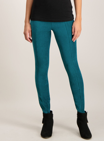 Green Jersey Cord Leggings
