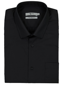 Black Tailored Fit Short Sleeve Shirts 2 Pack