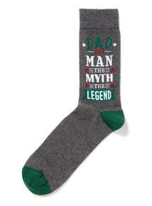 Father's Day Multicoloured Dad Man Myth Socks