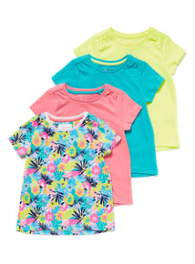 4 Pack Multicoloured T-Shirts (9 months-6 years)