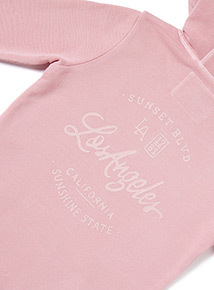 Pink 'Los Angeles' Slogan Print Long Length Sweatshirt (3-14 years)