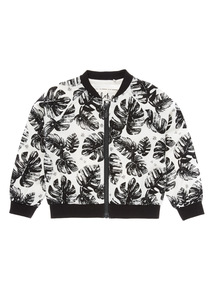 Black Hawaiian Bomber Jacket (9 months - 6 years)