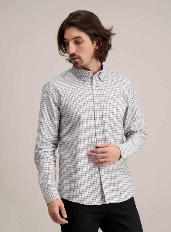 337dd98d2 Menswear Red & Navy Check Regular Fit Oxford Shirt | Tu clothing
