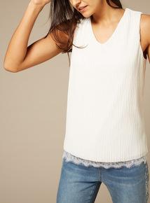 Premium Lace Hem Vest Top