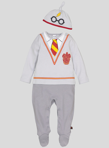 Harry Potter Grey Sleepsuit & Cap Set (Newborn - 12 months)