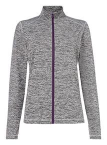 Grey Zip Through Space Dye Jacket
