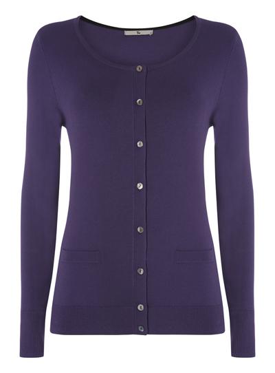 74874b0a235d Womens Purple Knitted Crew Cardigan | Tu clothing