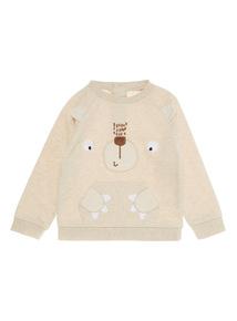 Oatmeal Bear Face Sweater (0 - 24 months)