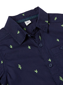 Navy Cactus Print Shirt (3-14 years)