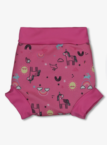 8cb450a40f Banana Bite Pink Unicorn Print Swim Nappy Cover (0 - 3 Years)