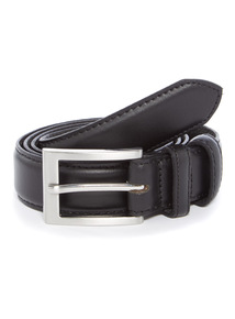 Black Formal Leather Belt