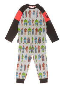 Grey Disney Marvel Avengers Pyjama Set (3-10 years)