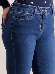 PETITE Mid Denim Skinny Jeans