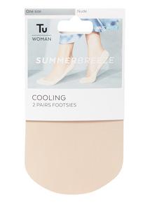 2 Pack Nude Summer Breeze Footsies