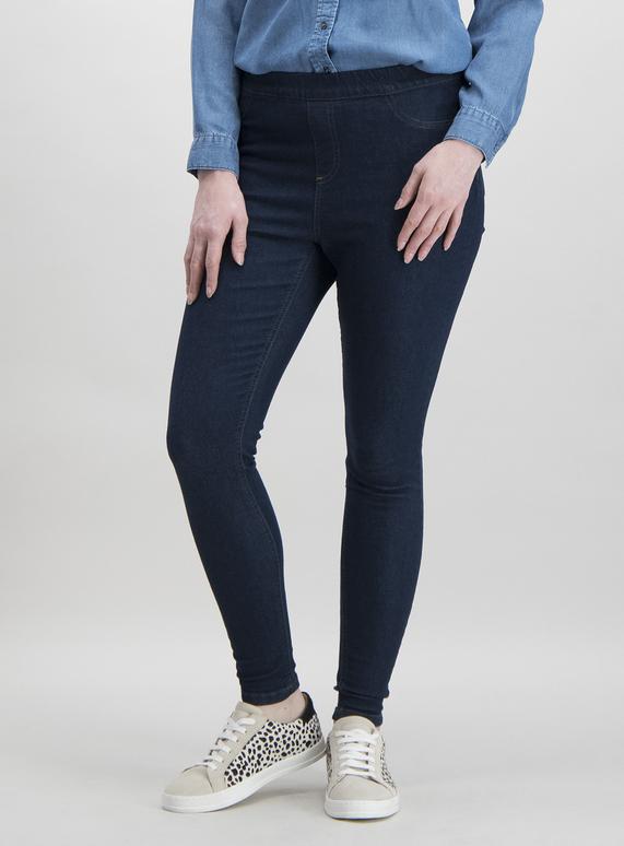 Womens Dark Denim Jeggings With Stretch Tu Clothing