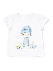 White Girl Printed T-Shirt (0-24 months)