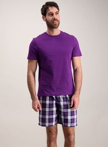 Purple Check Short Pyjamas