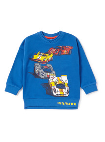 Blue Car Print Sweatshirt (9 months-6 years)