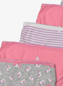 Multicoloured Unicorn Briefs 10 Pack (18 Months - 12 Years)