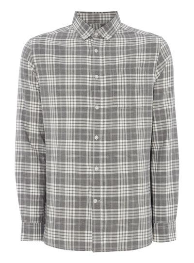 Grey Brushed Check Shirt