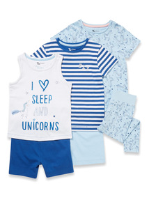 3 Pack Blue Unicorn Pyjamas (3-12 years)