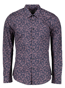 Brown Floral Print Regular Fit Shirt