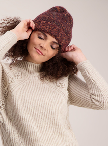 Multicoloured Soft Knit Beanie Hat