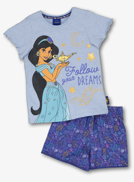 45d2d9795 Kids Disney Aladdin Princess Jasmine Blue Shortie Pyjama Set (1.5 - 9  years) | Tu clothing