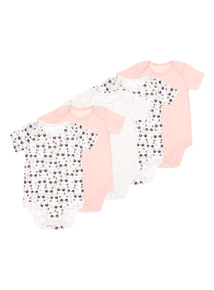 Panda Bodysuits 5 Pack (0-24 months)