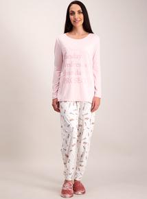Pink & Cream Prosecco Slogan Pyjamas