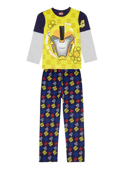 All Boy\'s Clothing Kids Yellow Transformers Pyjama with Sound (3-12 ...