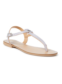 'Made In Italy' Toe-Post Flat Sandals