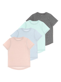 Boys Plain Knit T-Shirts 4 Pack (3 - 12 years)