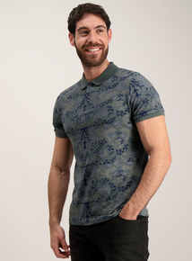 Admiral Green Floral Polo Top
