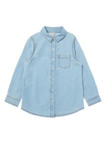 Girls Denim Shirt (3-14 Years)