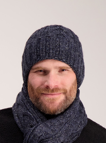 Toasties By Totes Blue Chunky Knit Beanie Hat