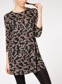 Multicoloured Floral Printed Tunic