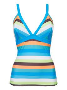 Multicoloured Stripe Tankini