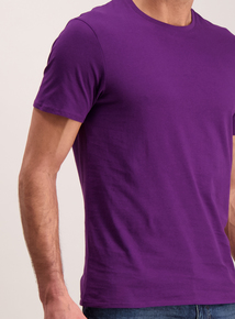 Purple Cotton Rich T-Shirt