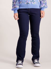 PETITE Dark Denim Straight Leg Jeans