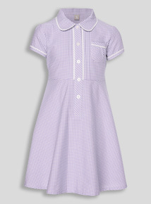 Lilac Generous Fit Gingham Dress (3 - 12 years)