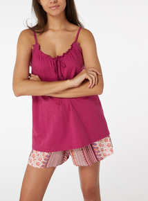 Printed Vest and Shorts Pyjama Set